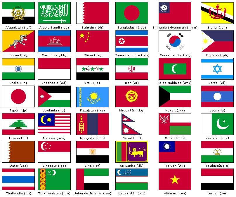 mundo y banderas: