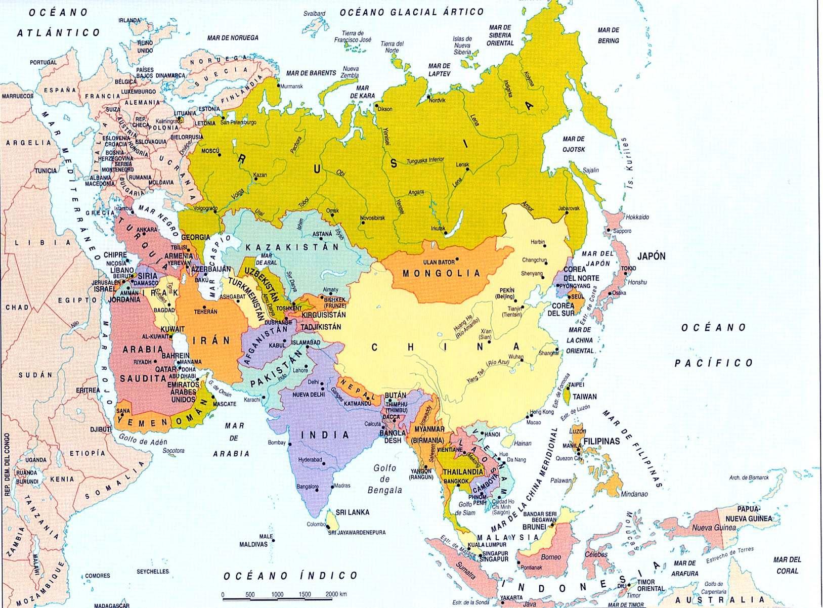 MAPA POLÍTICO DE ASIA
