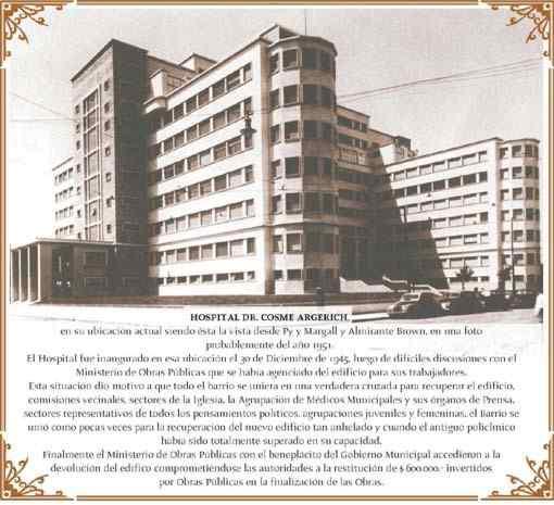 argerich , primeros hospitales