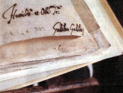 firma de Galileo Galilei